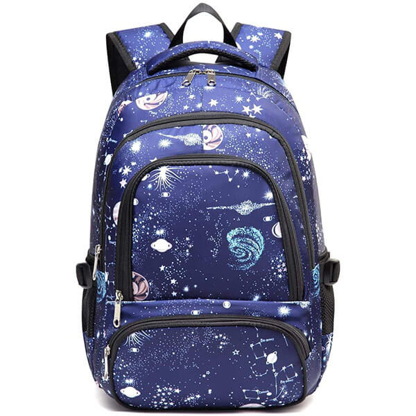 Waterproof Space Themed Backpack for Middle School