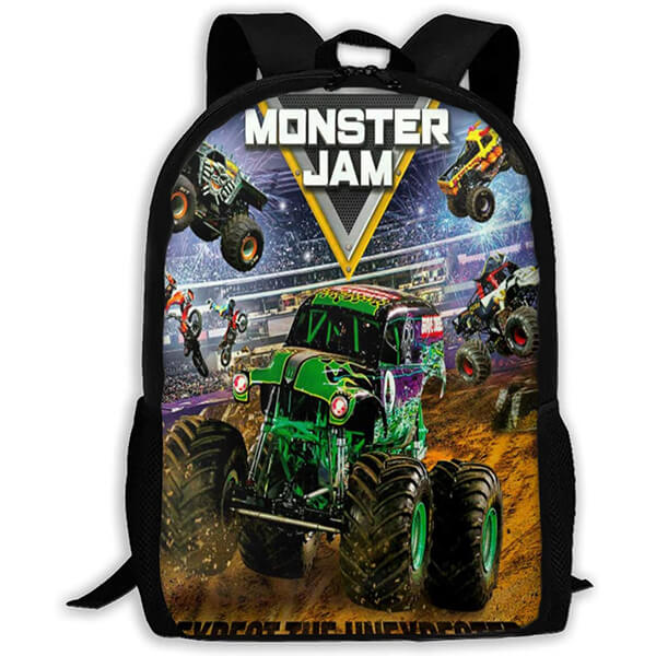 Ergonomic Features Designed Monster Jam Bookbag