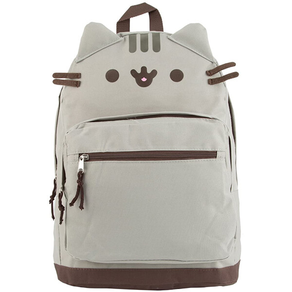 Kitty Face Canvas Cat School Backpack