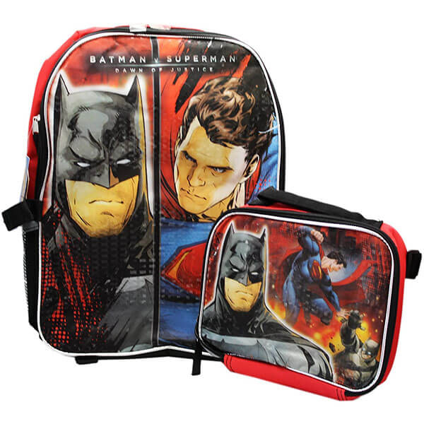 Superman Vs. Batman Backpack and Lunchbox