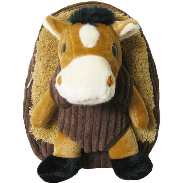 Brown Stuffed Animal Book Bag