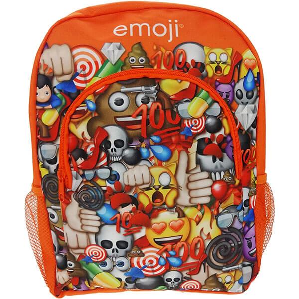 Orange Emoticon Backpack for Kids