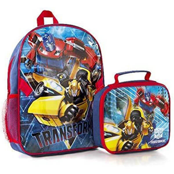 Classic PVC Transformer Bookbag with Lunch Bag