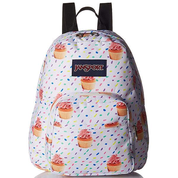 Cupcake Printed White Mini Backpack