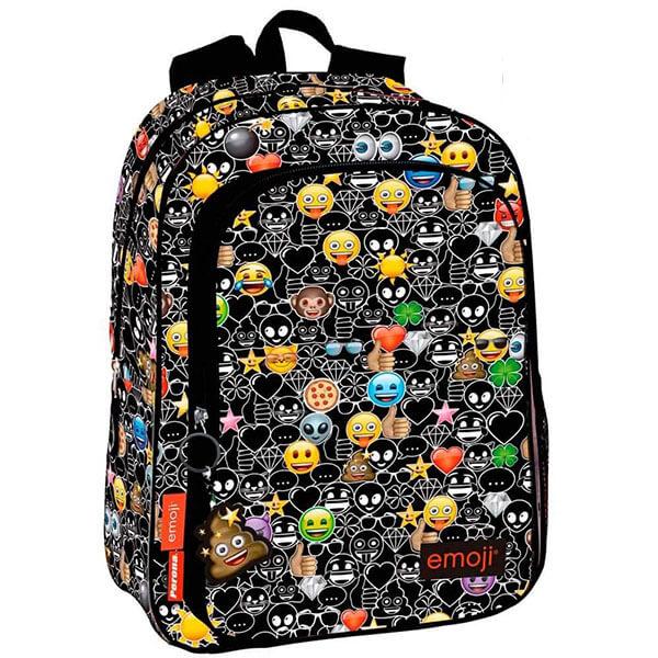 Smiley Backpack with Emoji Key Ring