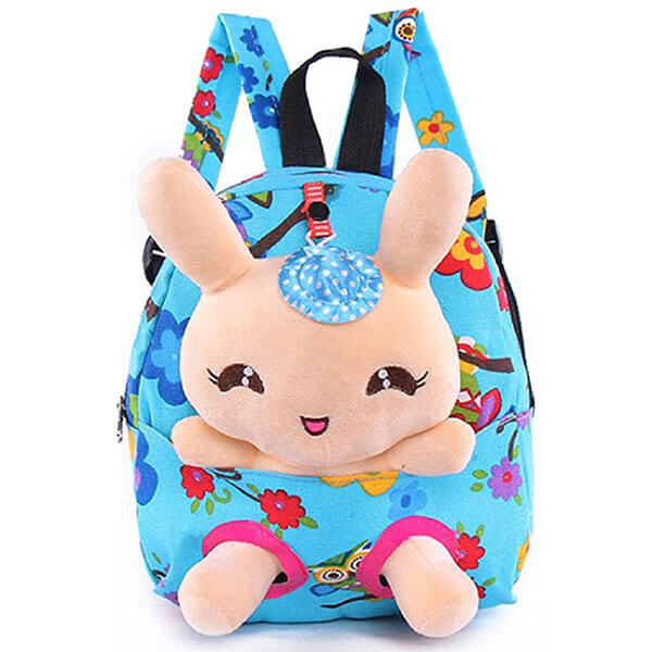 Toy Rabbit Backpack with Dotted Print Hat