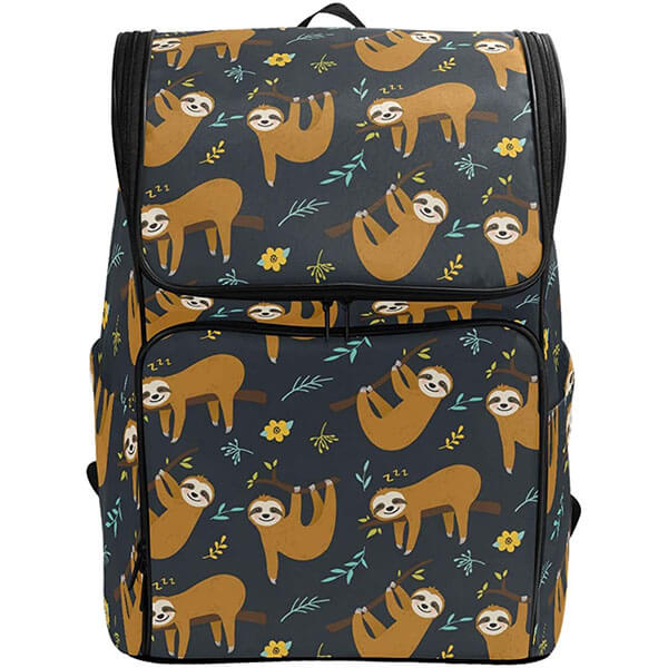 Tropical Palm Leaves Multi-Sloth Backpack