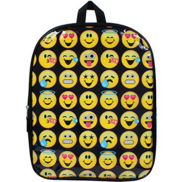 Black Colored Multi-emoji Bookbag