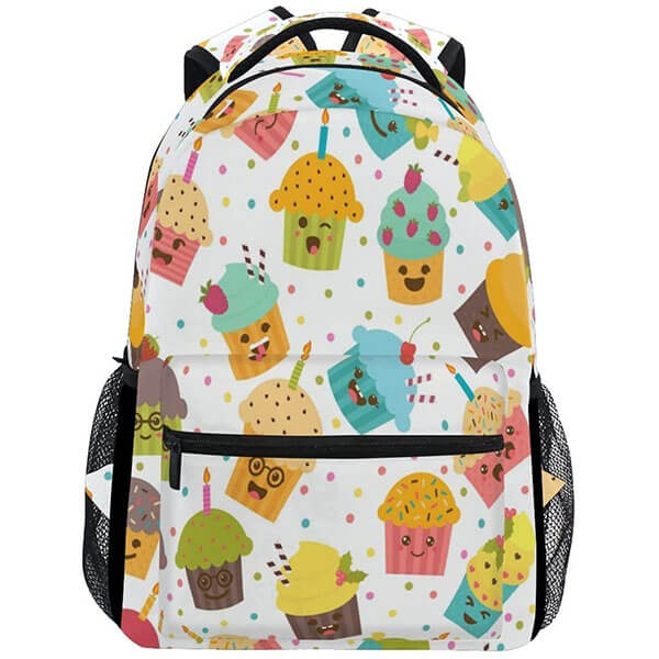 Cupcake Emoji Backpack for College