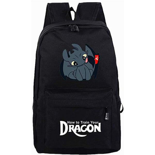 Happy Toothless Backpack for Secondary Schoolers