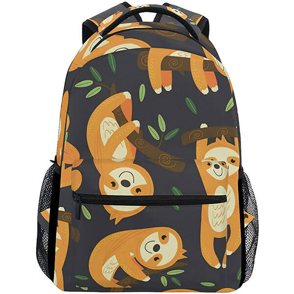 Sloth Poses Outdoor Travel Customized Backpack