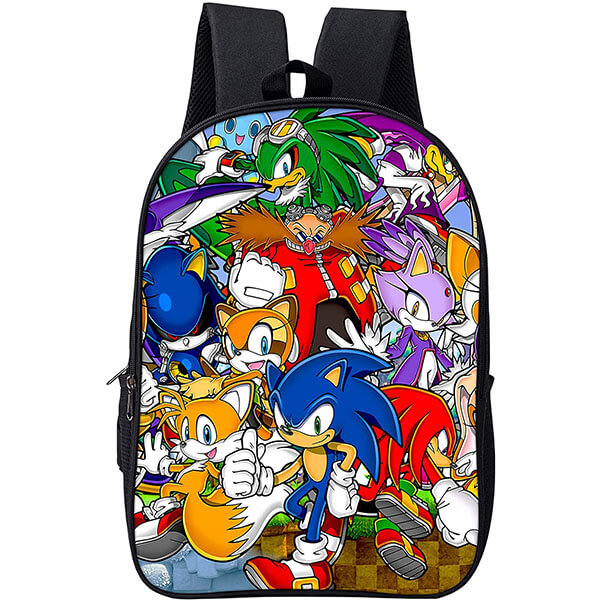 Sonic Backpack with All Characters Print