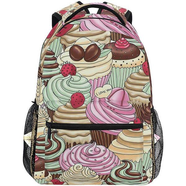 Cupcake Water-proof Kids Backpack