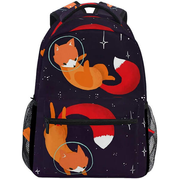Foxes in Starry Nights Water-resistant Backpack