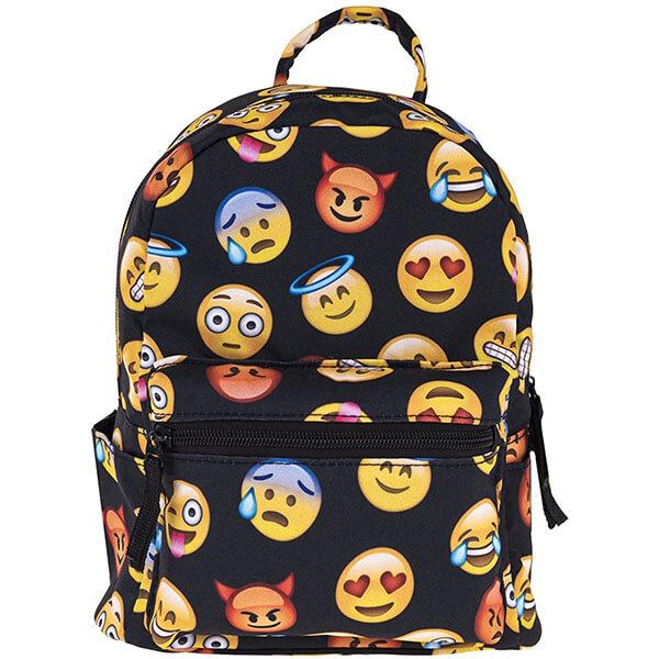 3D Canvas Emoji Mini Backpack