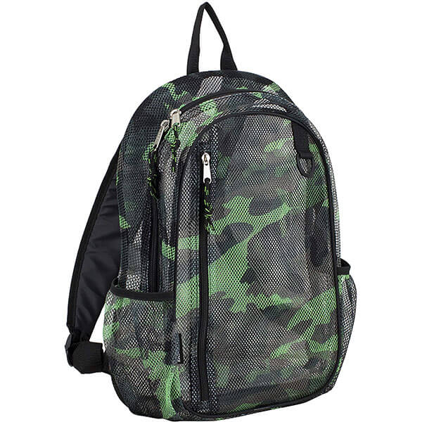 Camouflage Backpack with Multi-Zip Compartments