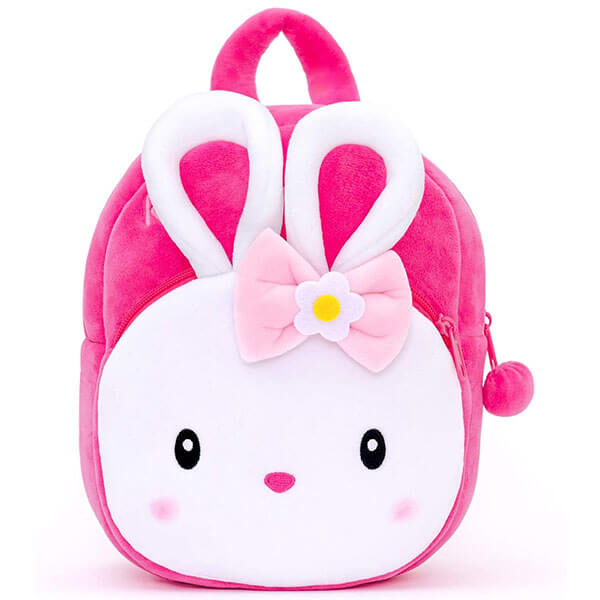 Easter Bunny 3D Backpack with Yellow and White Flower