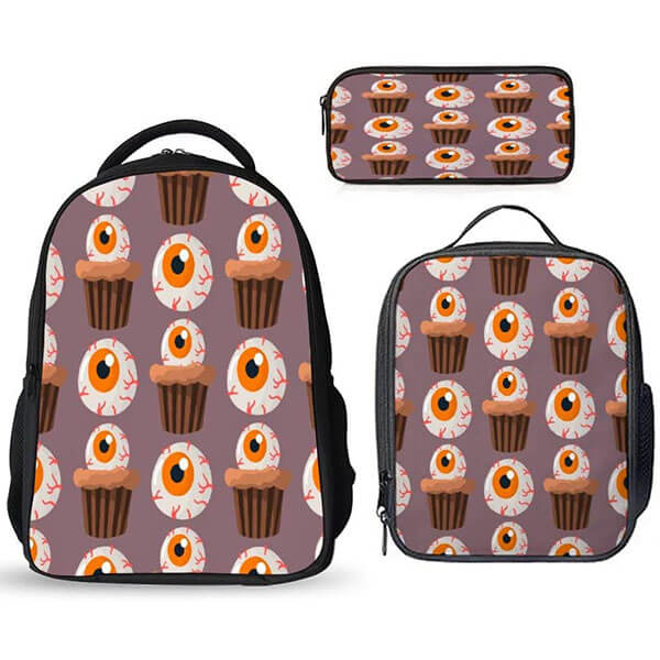 Halloween Themed Cupcake Bookbag Set