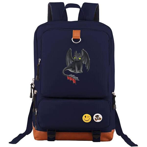 Navy Blue Printed Night Fury Backpack