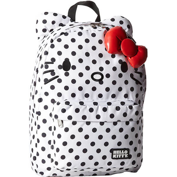 Polka Dot Kitty Backpack for Grade Schooler