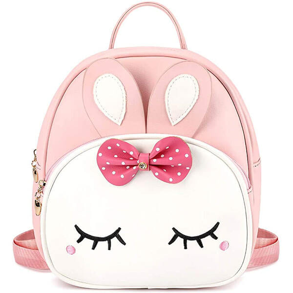 Bunny Mini Backpack with Dotted Print Bowknot