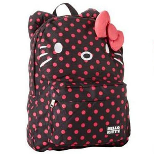 Hello Kitty Backpack with 3D Ears and Bows