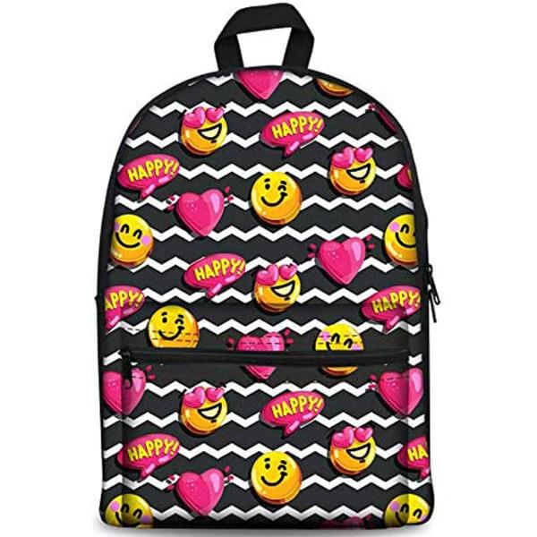 Lightweight Happy Emoji Laptop Backpack