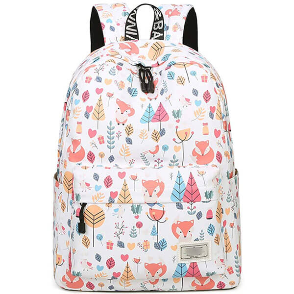 Soothing White Secondary School Backpack