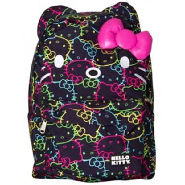 All Over Neon Print Hello Kitty Backpack