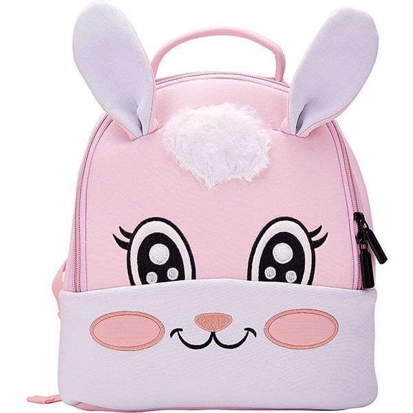 Honeycomb Rabbit Bookbag with Long Ears