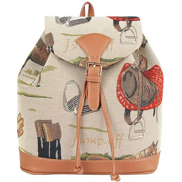 Tapestry Fashion Drawstring Closure Backpack
