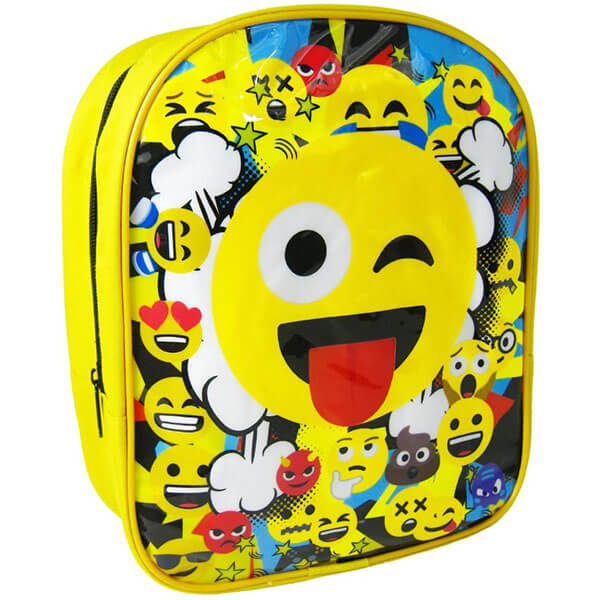 Toddler's Tongue-out Emoticon Bookbag