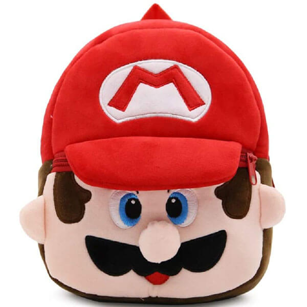 Cute Mario Head Backpack for Kindergarten
