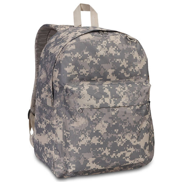 Hidden Zipper Closure Camouflage Backpack