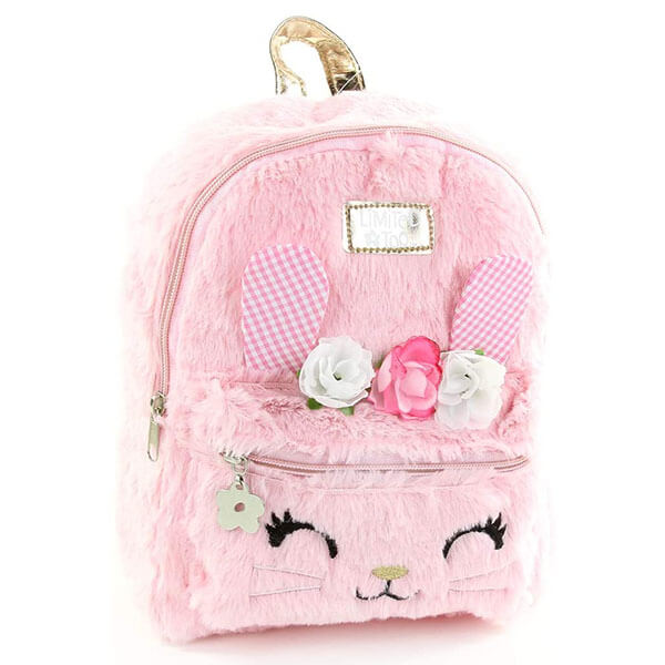 Rose Bunny Mini Backpack with Silver Strap