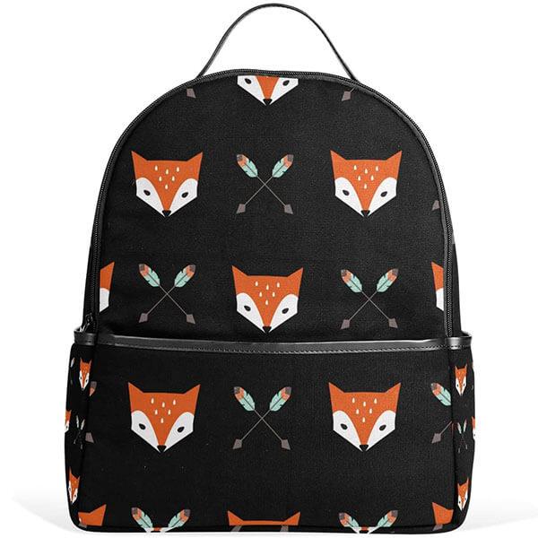 Teens Black Fox and Arrow Bookbag