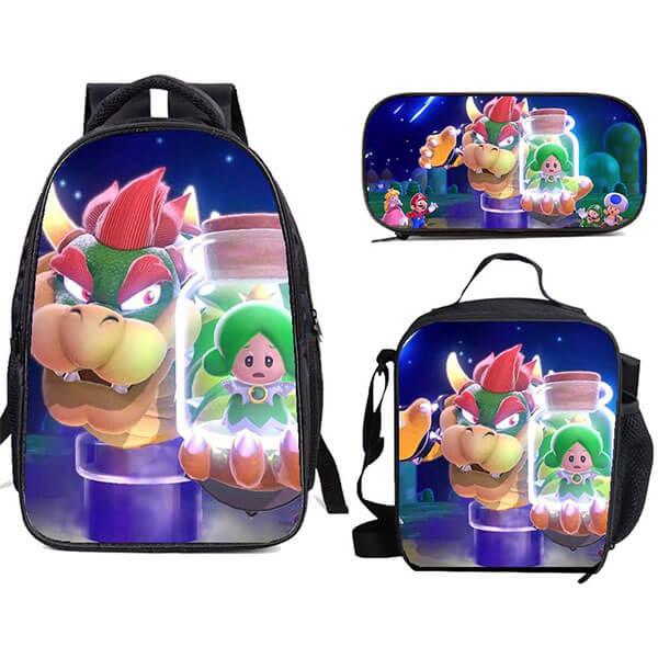 Anime Bowser Backpack Set