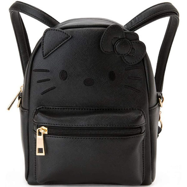 Black Hello Kitty Multipurpose Mini Backpack