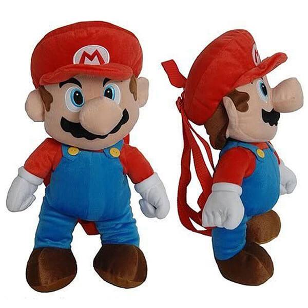 Plush Mario Shaped Backpack