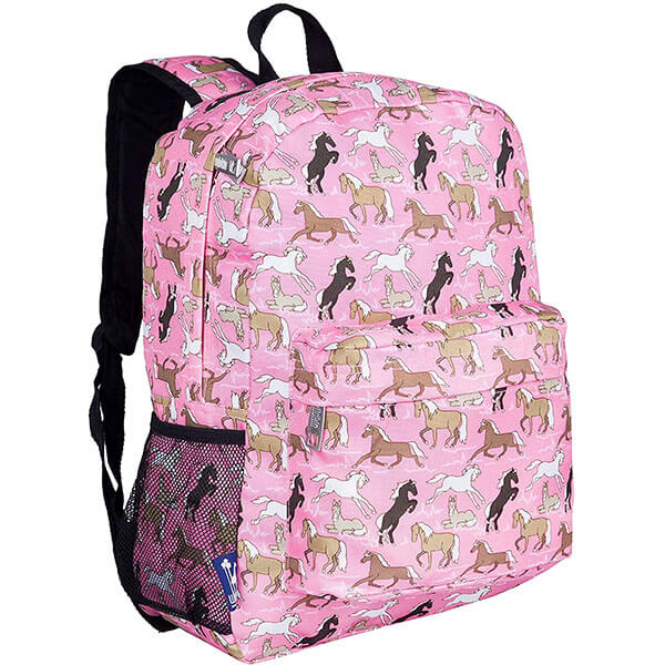 Polyester Horses in Pink Backpack