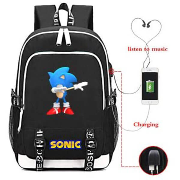 Sonic The Hedgehog on Dab Backpack