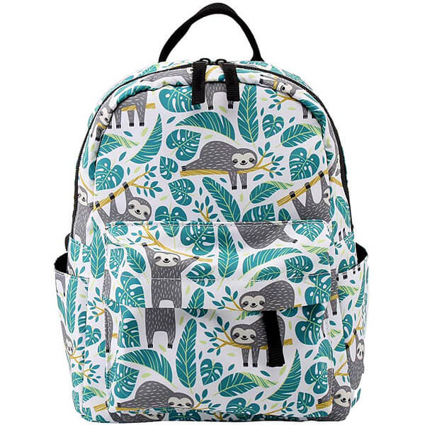 Blue Leaf Purse Sloth Backpack for Kindergarten