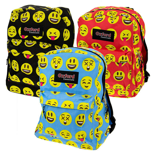 Comfortable School Backpack with Emoji Faces