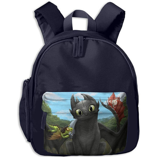 Cute Shaped Toothless Toddlers Backpack