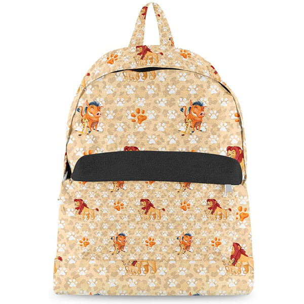Lion King Backpack with Paw Prints