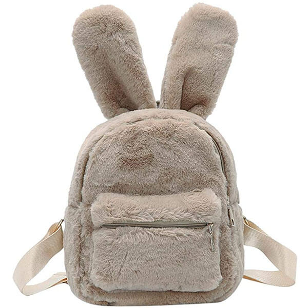 Plush Mini Backpack with Soft Bunny Ear
