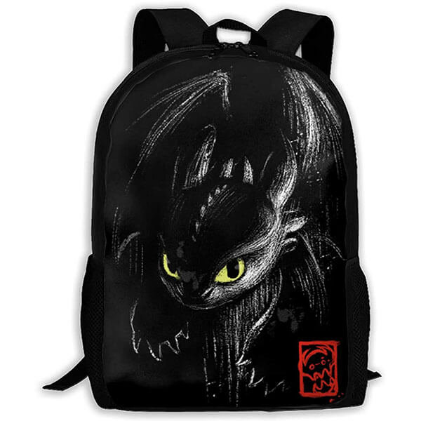 Angry Cute Little Toothless Backpack
