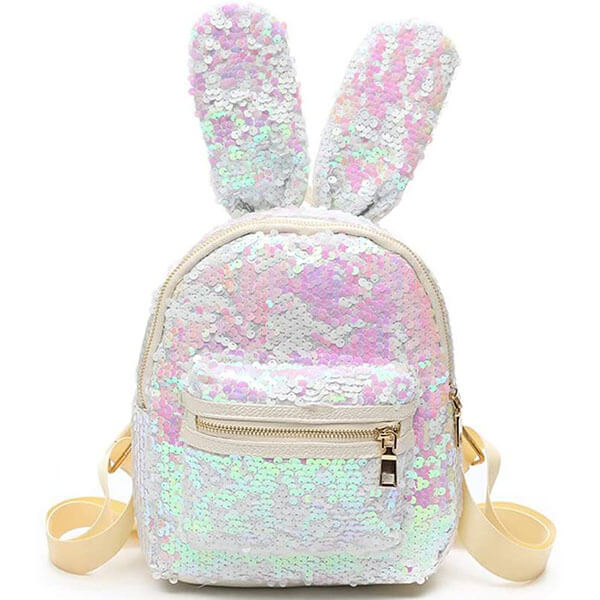 Shinny Glitter Dazzling Bunny with Long Ear Backpack