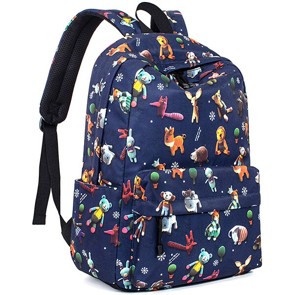 All Over Cartoon Animal Print Backpack