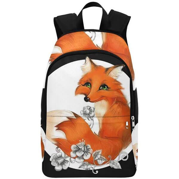 Kid's Floral Fox Backpack